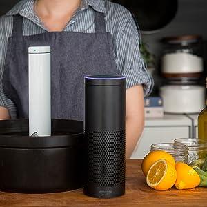 Alexa habilitada, funciona com Amazon Alexa, joule, chef steps, breville, sous vide, utensílios de cozinha