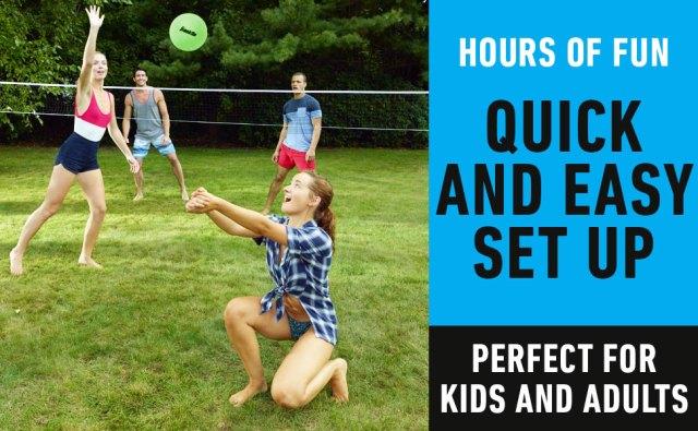 bad minton set, backyard volleyball net, badmitton set, bad mitten set with net, sports combo set