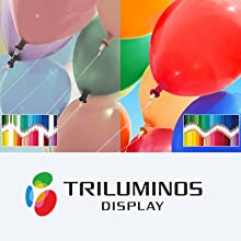 Trilumions Display reproduces a wider, more precise range of colours