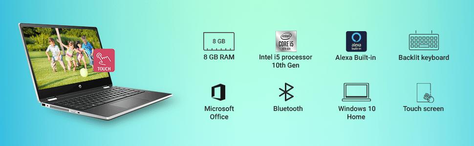 HP Pavilion X360 i5 Laptop