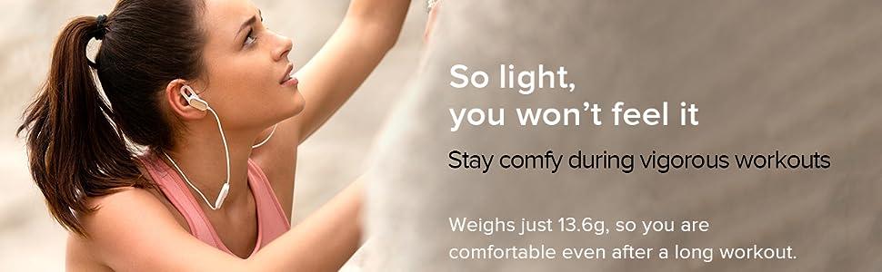Light weight, 13.6 grams