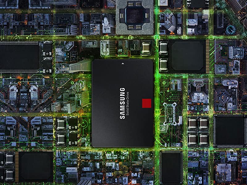Samsung 860 PRO SSD installed in a mother board