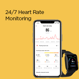 24/7 Heart Rate Monitoring