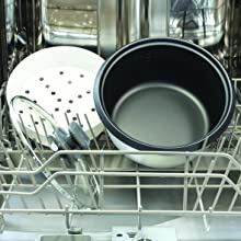 Dishwasher-Safe, Removable, Non-Stick Bowl and Glass Lid
