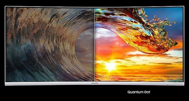 Conventional Monitor display vs Quantum Dot Display of Samsung CJ79 Monitor