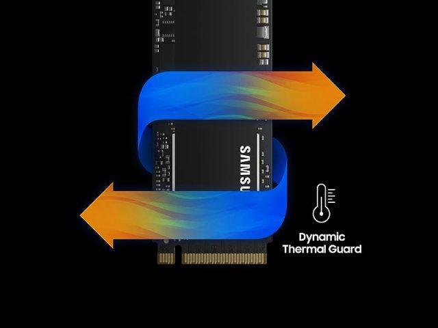 Samsung 970 EVO Plus Dynamic Thermal Guard maintains optimal operating temperatures