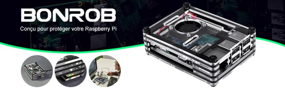 boîtier raspberry pi 3b+