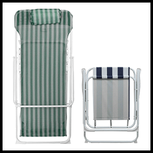 Harbour Housewares Traditional Folding Metal Garden Deck Chairs Deckchairs Beach Striped Retro