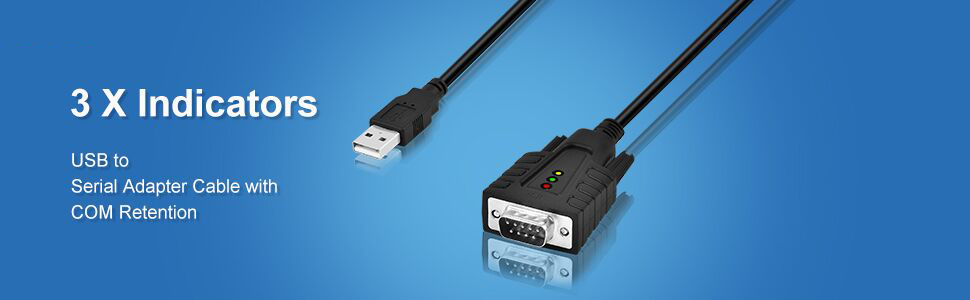 usb serial rs232 db9 9 pin male cable pl2303 prolific com port retention usb 2.0 serial port device