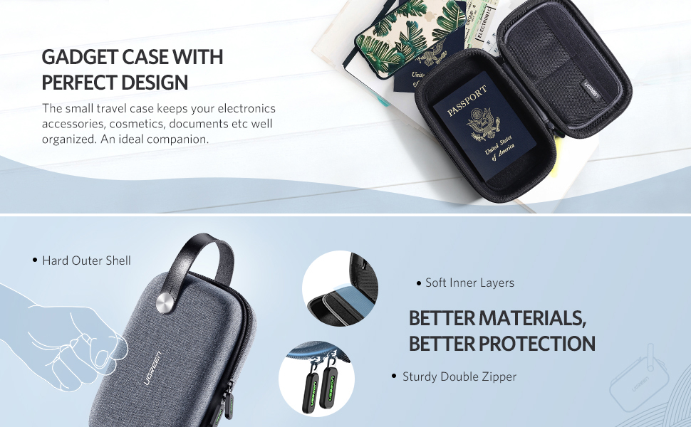 small travel carry case with carrying handle