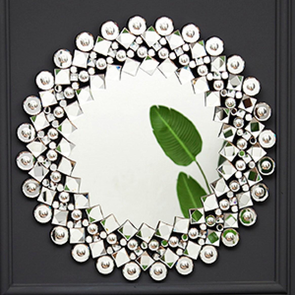 Wandspiegel gross mit Glitzer Jeweled