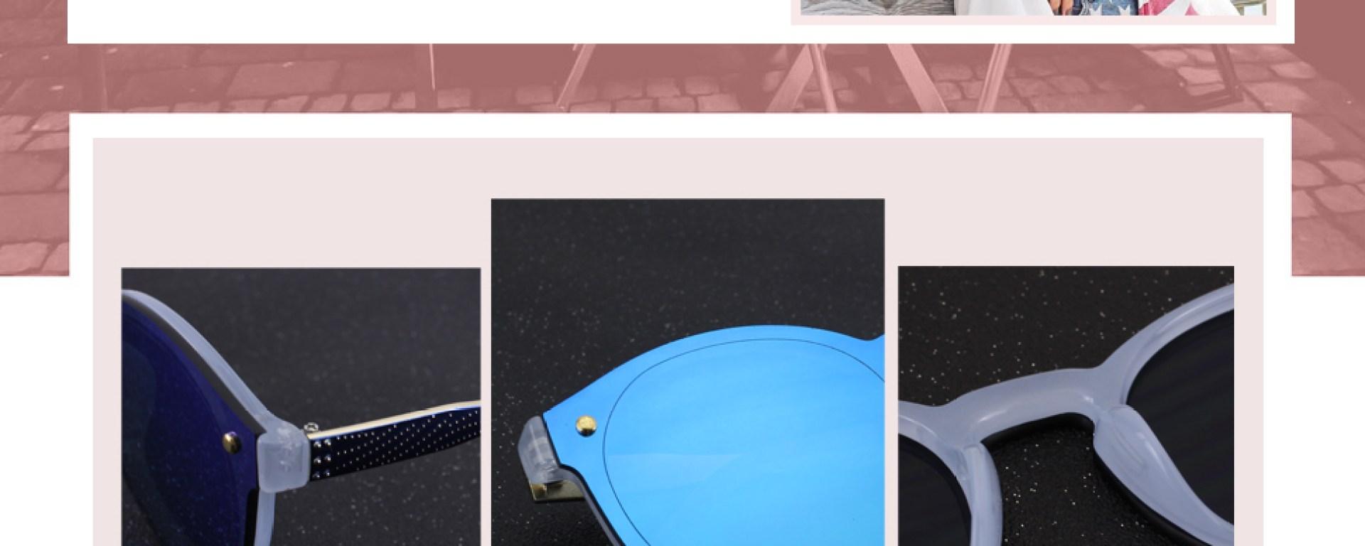 17c8a48e2c GQUEEN Futurista Sin Marco Redondas Gafas de Sol Protector Reflexivo Espejo  Anteojos para Hombre Mujer MEO5 (-42%) + 15% con código GQUEEN2P