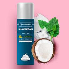 LetsShave shave foam,coconut enriched shave foam