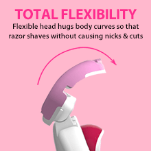 letsshave soft touch 6 body razor, women hair removal, razors for women, flexible razor for women