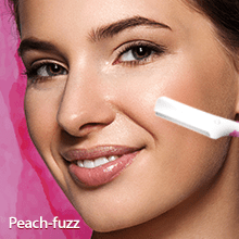 LetsShave Soft Touch face razor to remove hair from upper lip