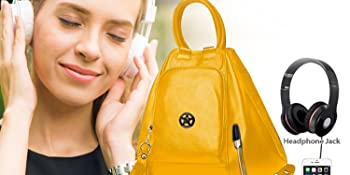 deal especial yellow smart backpack bag
