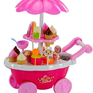 candy cart side view
