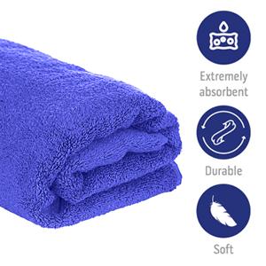 micro fibre cloth blue