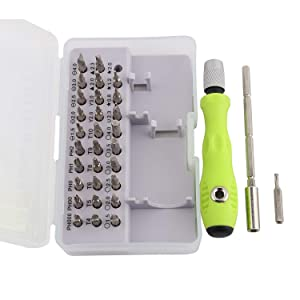 Screwderiver set organized in 1 precision box,