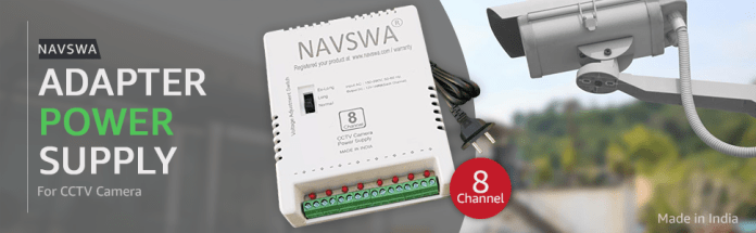 NAVSWA AD-23 8 Channel Adapter Power Supply SMPS for CCTV Security