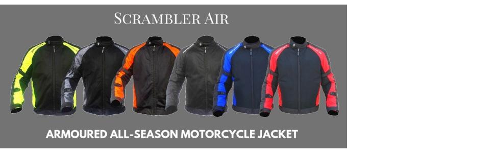 All season MOTOTECH Scrambler Air Motorcycle Riding Jacket