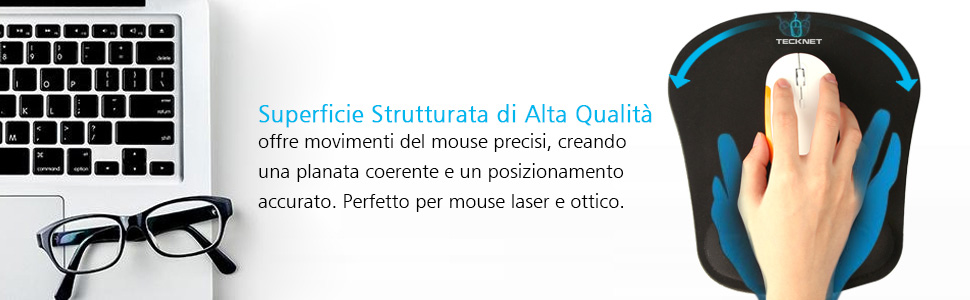 Tappetino Mouse Polso Impermeabile