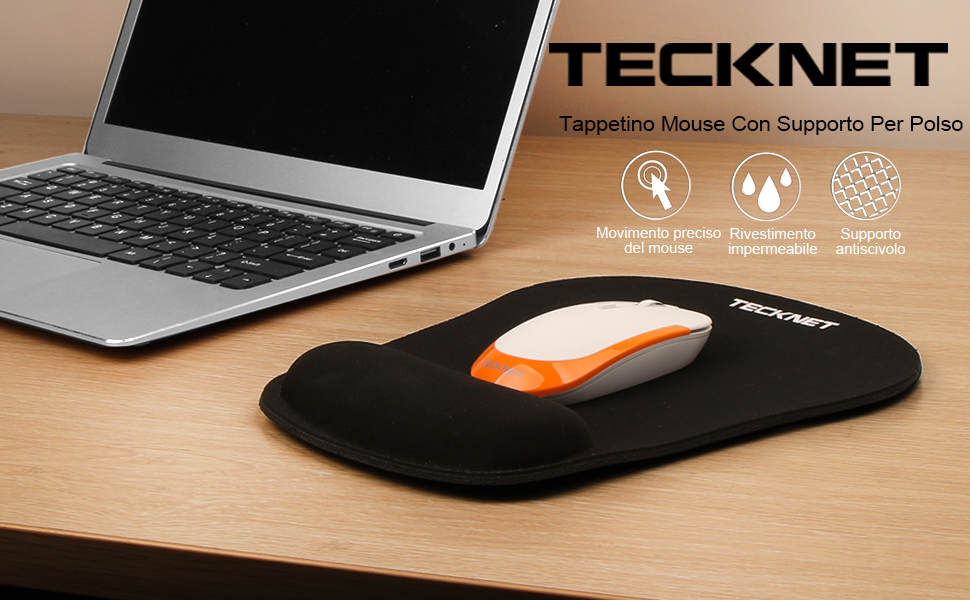 tappetino mouse polso