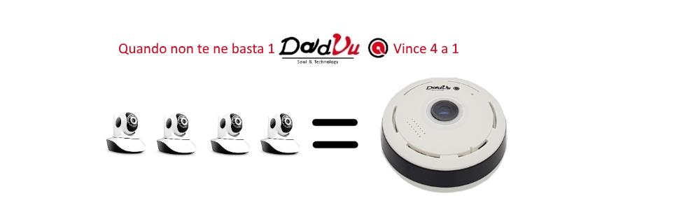 telecamera wifi, telecamera senza fili, antifurto, allarme, panoramica, 360, dual audio, sicurezza
