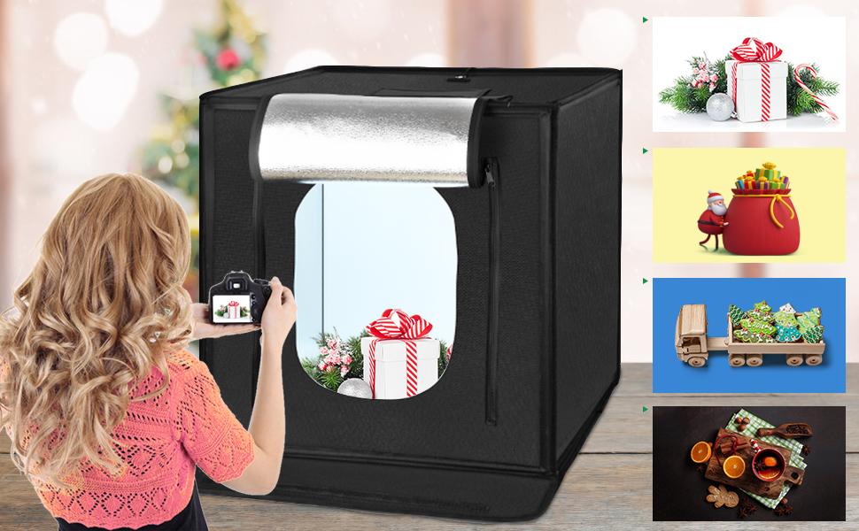 L'ultimo design: Amzdeal Photo Studio Portable 60x60x60cm Pieghevole 5000LM