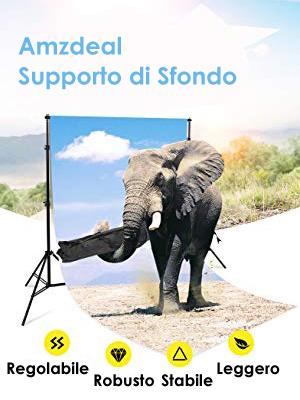 kit supporto di fondale 3m per fotografia