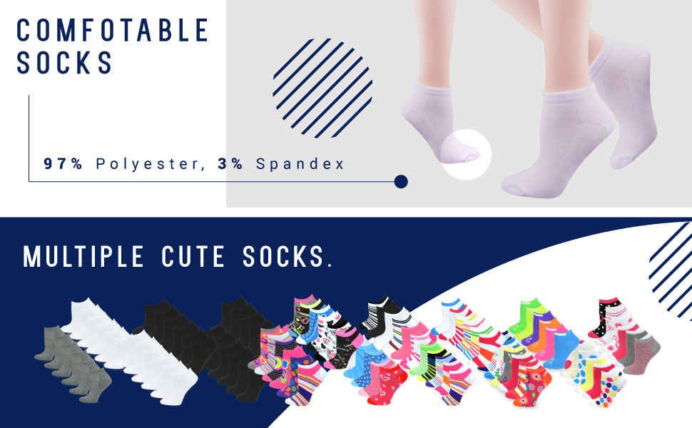 women socks, pair socks, fun socks, spandex socks, polyester socks, comfortable socks