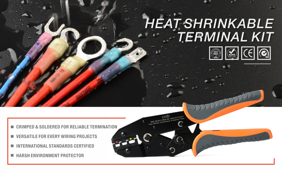 heat shrinkable terminal tool