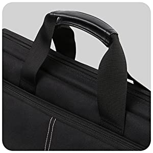 briefcase shoulder bag with padded comfortable handle