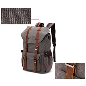 laptop backpack with usb charging port, travel backpack, hiking backpack, camping backpack