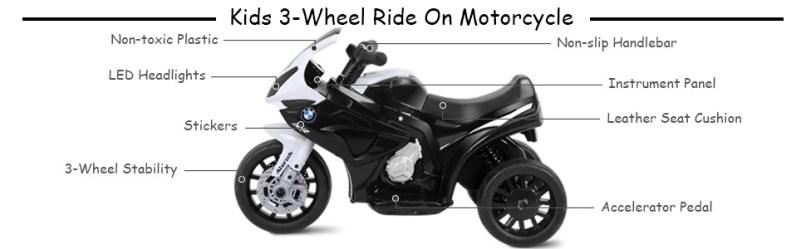 Costzon Kids Ride On Motorcycle 6v