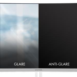 Anti-glare treated screen