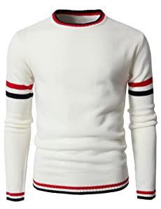 Image result for H2H Mens Casual Slim Fit Pullover Lightweight Thin Fabric Sweaters Stripe Patterned