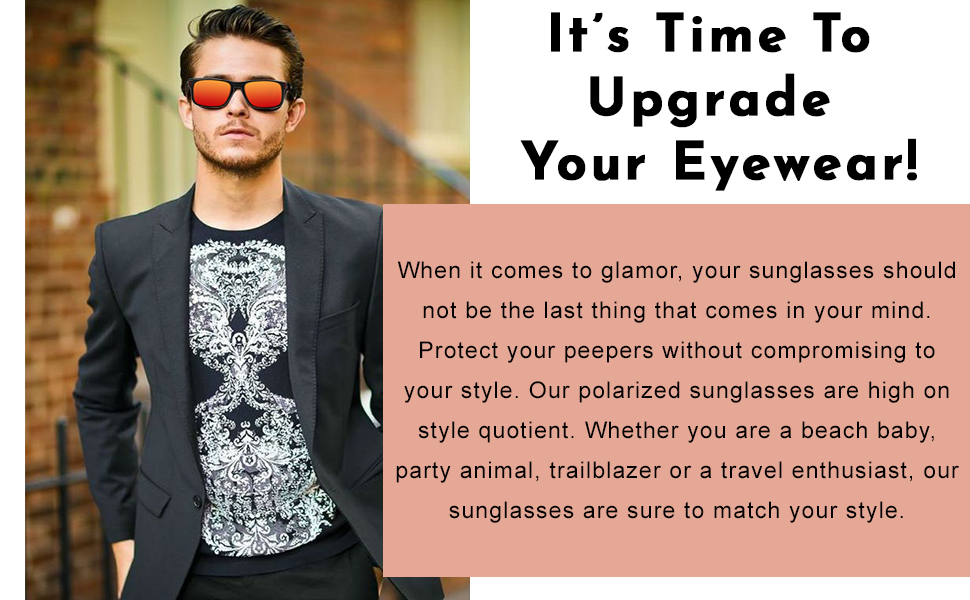 Upgrade your eyeware with these amazing sunglasses.
