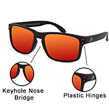 Our shades are crafted from sturdy plastic.