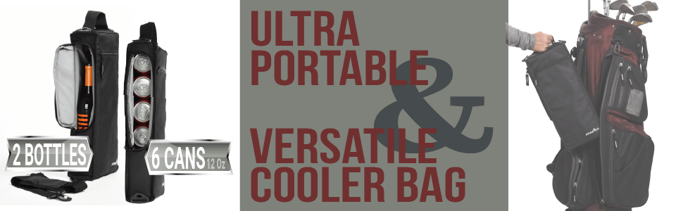 Athletico Ultra portable & versatile cooler bag - 16 x 6.3 x 3 inches; black, insulated, lined