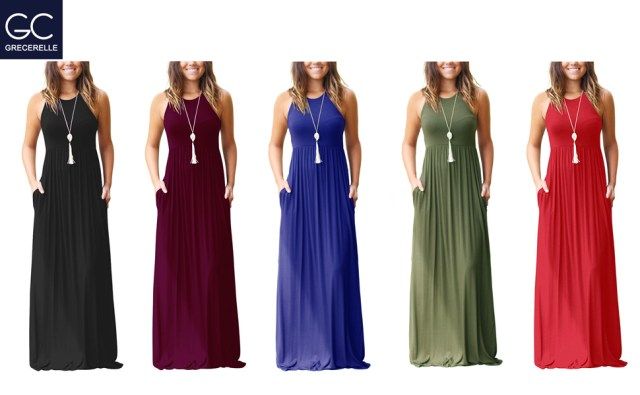 short sleeve maxi dress long dresses