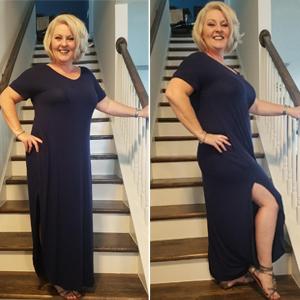 GRECERELLE split maxi dresses