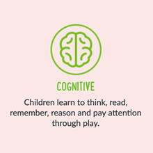 Cogrnitive Children learn to think, read, remember, reason and pay attention through play