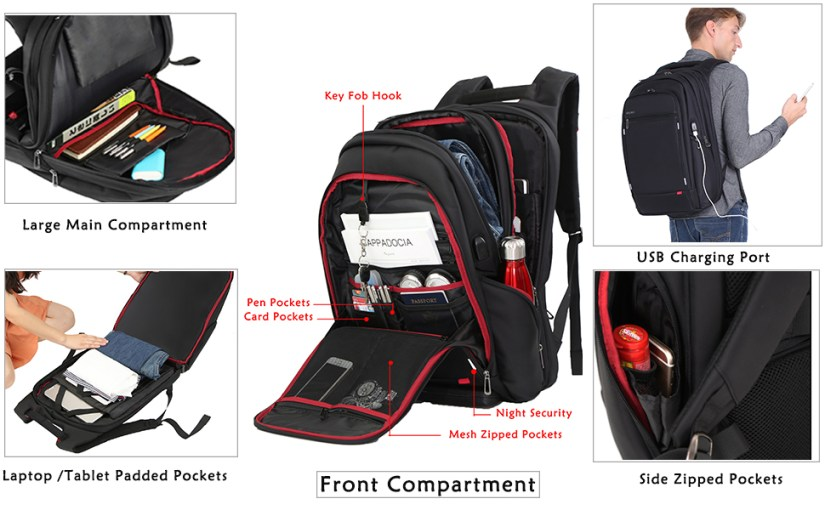 backpack compartment details