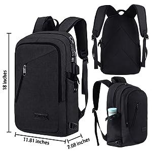 school backpack bookbag black backpack 13.3inch laptop backpack professional backpack