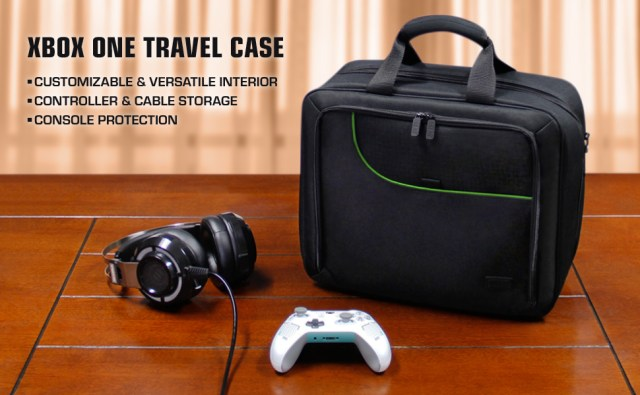 Bag with controller and headphones