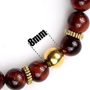 8mm natural stone beads bracelet