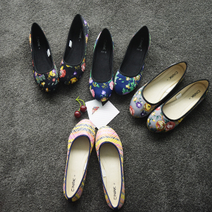 floral slip-on flats for women
