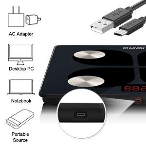 rechargeable via usb