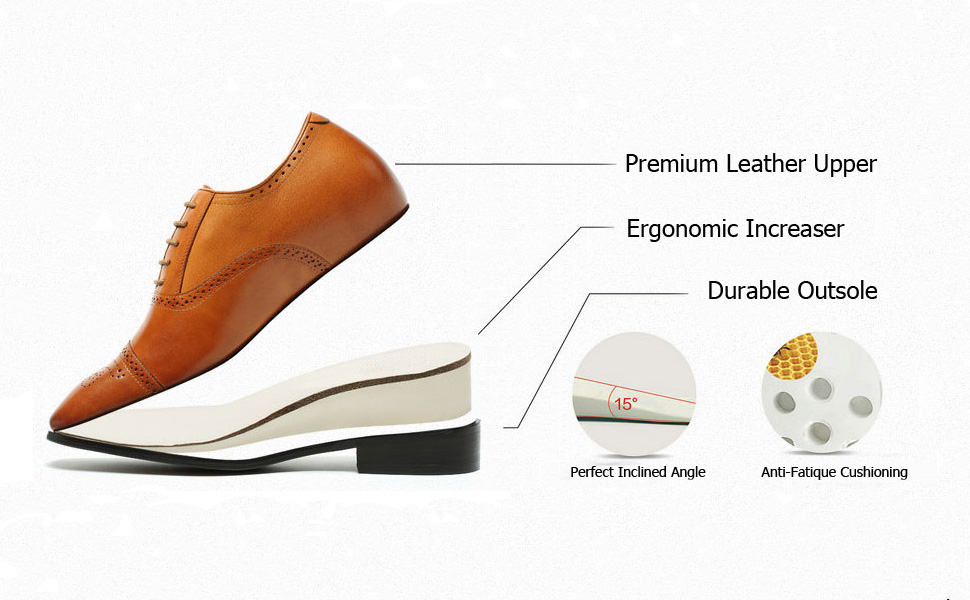 how does elevator shoe works, men high heels shoe lifts, height increase shoes